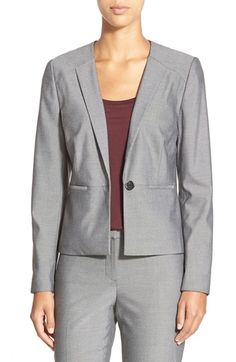 Halogen® Stitched Lapel Stretch Suit Jacket (Regular & Petite) available at #Nordstrom