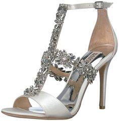 825a61f195aa73 Badgley Mischka Women s Munroe Heeled Sandal White 7.5 M US