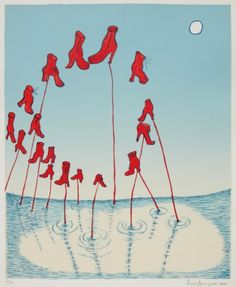 Louise Bourgeois, (1911-2010), 2001, The Night, Lithograph.  on ArtStack #louise-bourgeois-1 #art