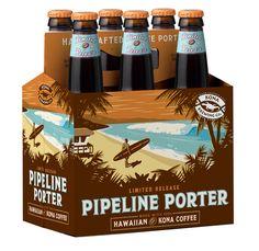 Kona Brewing Co. - Pipeline Porter-This beer rocks! Kona Brewing, Brewing Co, Kona Coffee, Best Coffee, Brewery Design, Hawaiian Designs, Poster Store, Beer Packaging, Label Design