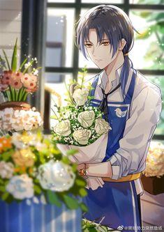 Anime Elf, Anime Chibi, Handsome Anime Guys, Hot Anime Guys, Anime Boy Long Hair, Anime Flower, Anime Devil, Fantasy Art Men, Anime Love Couple