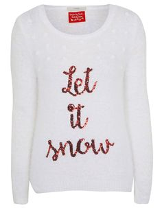 Let It Snow Christmas Jumper | Women | George at ASDA