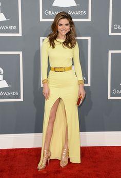 Maria Menounos in Gomez-Gracia Yellow Gown