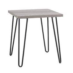 Retro End Table (Gunmetal/Oak Finish), Check it out here: http://bacheloronabudget.com/living-room/tables-surfaces/living-room-end-tables/