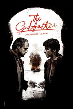 The Godfather by Daniel Norris Fuck Yeah Movie Posters! The Godfather 1972, The Godfather Poster, The Godfather Wallpaper, Godfather Movie, Der Pate Poster, Mafia, Shire, Don Corleone, Coppola