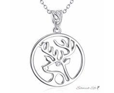 Anhänger Amulett Rentier mit Zirkonia aus 925 Silber...