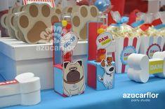 AZUCAR FLOR party studio: LA VIDA SECRETA DE TUS MASCOTAS Baby Birthday, Birthday Ideas, Secret Life Of Pets, Childrens Party, Animal Party, The Secret, Birthdays, Dogs, Party Ideas