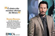 """""""É chato não receber ofertas de filmes"""" - Keanu Reeves"""