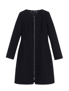 A-line overcoat with round neckline, black - Max&co - 290€
