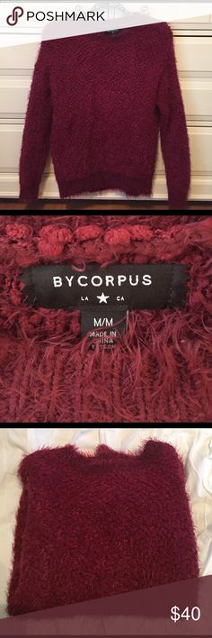 Urban Outfitters ❤️ Bycorpus Cozy Popcorn Sweater Urban Outfitters ❤️ Bycorpus Cozy Popcorn Sweater - Amazing condition! Only worn once - super cozy and warm burgundy color - NO TRADES Urban Outfitters Sweaters Crew & Scoop Necks