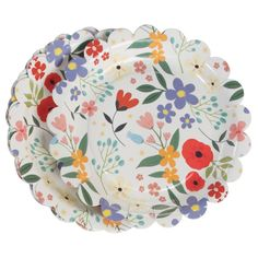 Set Of 8 Summer Meadow Tea Party Plates