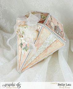 Diamond Mini Album Gift Music Box - Graphic 45 - Gilded Lily - Belly Lau - Papercraft Buffet - Tutorial