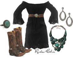 """Country concert outfit: for winter/fall """"stampede"""" by rodeo-chic Country Girls Outfits, Country Dresses, Look Fashion, Autumn Fashion, Fashion Outfits, Fashion Shoot, Rodeo Chic, Cute Dresses, Cute Outfits"""