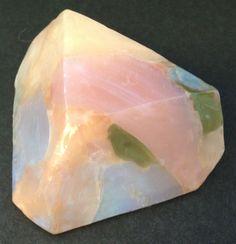 Pink 4 oz Bar Soaprock Rocklet, White Opal, Pure Mineral Jewel Glycerin Gift #PINK