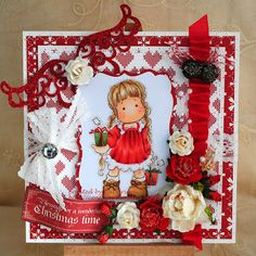 Tilda with tag gifts, A Christmas Story collection 2012, Magnolia stamps