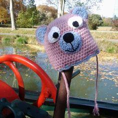 6a25a778bb6 ... UN GRAND MARCHE · Bonnet bébé nounours crochet laine fait main layette  cadeau Noël bébé