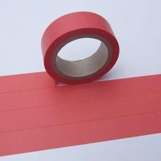 Tape Maskingtape ROT CORAL einfarbig  von washitapes auf DaWanda.com