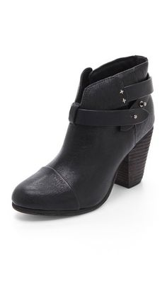 Rag & Bone Harrow booties: Pick these up in black, brown and gray.  Update: 1/1/16: Have them in Black, Brown, Gray, Leopard, Oxblood and am never looking back!  I think I have now... 15 pair of R&B boots: Harrow and Newbury, primarily, but Kinsey and Moto boots, too.