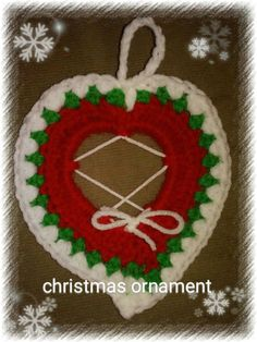 Hey, I found this really awesome Etsy listing at https://www.etsy.com/listing/478576782/crochet-christmas-ornamentsheart