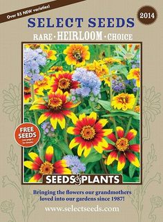 Select Seeds--Antique Flowers offers unique flower seeds of old-fashioned varieties, fragrant heirloom flowers, flowering vines, and more. Garden Catalogs, Plant Catalogs, Seed Catalogs, Organic Gardening Magazine, Bee Friendly, Moon Garden, Garden Journal, Free Plants, Flowering Vines