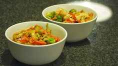 Polskie South Beach: Orzechowe stir-fry jak noodle w pudle