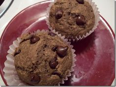 Vegan Chocolate Chip Muffins...an appropriate birthday snack for the 3 and under crowd in Cam's play class.