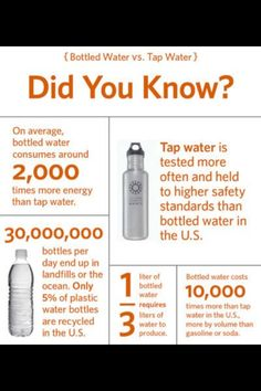 Bottled water has a heavy carbon footprint. What are you doing about it?