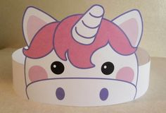 Unicorn Paper Crown  Printable van PutACrownOnIt op Etsy