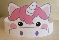 Unicorn Paper Crown  Printable van PutACrownOnIt op Etsy