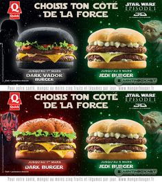 Dark Vador & Jedi Burgers: Evil Never Tasted So Delicious - Bit Rebels Black Burger, Black Bun, Fun Buns, Nice Buns, Burger Places, Star Wars, Fast Food Chains, French Restaurants, Hamburgers