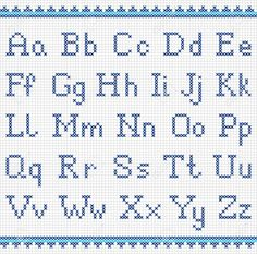 Illustration about Vector set of cross-stitched letters. Illustration of embroidered, alphabet, cross - 47863577 Cross Stitch Alphabet Patterns, Embroidery Alphabet, Cross Stitch Letters, Cross Stitch Designs, Stitch Patterns, Cross Stitch Font, Crochet Alphabet, Cross Stitch Numbers, Alphabet Charts