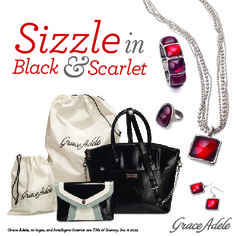 Host a qualifying Grace Adele party beginning Nov. 1 to be eligible to purchase exclusive products in sultry black and scarlet!  For more info contact your #GraceAdele Consultant.