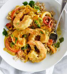 Shrimp In Thai Coconut Sauce – foodiecrush Coconut Curry Shrimp, Coconut Sauce, Thai Coconut, Thai Shrimp, Shrimp Soup, Shrimp Curry, Prawn, Coconut Milk, Shrimp Recipes