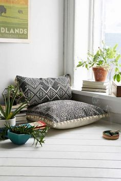 Nurturing Zen Space Inside or Outdoors Pillows and decor to create a zen meditation space for the home.Pillows and decor to create a zen meditation space for the home. Meditation Raumdekor, Meditation Room Decor, Yoga Decor, Zen Yoga, Yoga Studio Decor, Yoga Studio Design, Meditation Pillow, Morning Meditation, Meditation Quotes