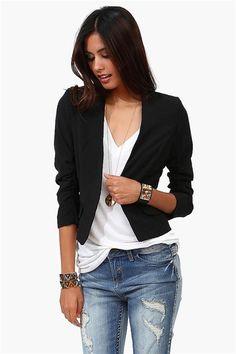 Short Blazer in Black