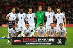 Jordan Henderson (top left) in the England team with James Milner (front centre) before the UEFA Euro 2016 qualifying match at Wembley iun October 2014 PRESS ASSOCIATION Photo.