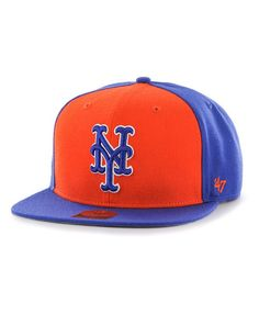 183fce9bcb403 MLB New York Mets Sure Shot Two Tone  47 CAPTAIN Snapback Hat Hat World