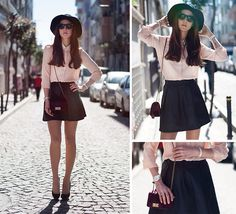#Fashion#Detail#LookBook#SkaterSkirt#Satchel#Heels