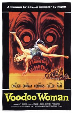 retro horror posters | Vintage Horror Movie Poster Illustration