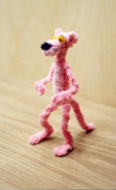 Pipe Cleaners Art Pipe cleaner pink panther by