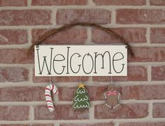 MONTHLY WELCOME DECEMBER Decorations no sign included by lisabees