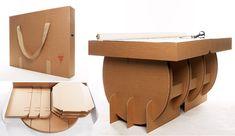 Mesa ecológica de cartón