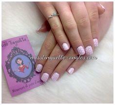 #sns #nail #nails #nailart #rose #pink #babypink #polkadots #pois @chez_miss_tinguette