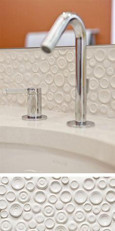 Walker Zanger Vibe Andy Mosaic in White Gloss.  #walkerzanger