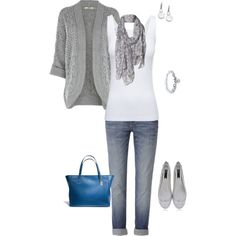 """Fall grays"" by cs1398 on Polyvore"