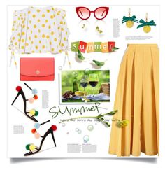 """Summer Yellow"" by judysingley-polyvore ❤ liked on Polyvore featuring Roksanda, Caroline Constas, Spektre, Fendi, Tory Burch, Anja, Summer and yellow"