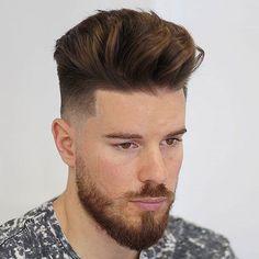 Quiff + Low Bald Fade + Line Up + Beard