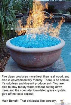 Fire glass looks like sorcery