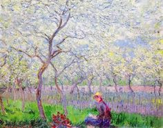 An Orchard in Spring Claude Oscar Monet (1886)