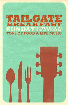 Tailgate Poster 2 by Abby In Color, via Flickr // #graphicDesign #food #music #poster
